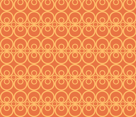 Circle Time Orange fabric by audreyclayton on Spoonflower - custom fabric