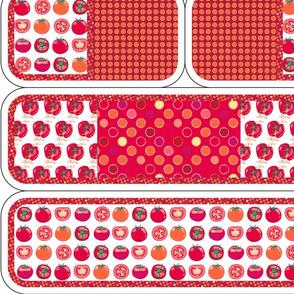Play kitchen accessories - tomato polka