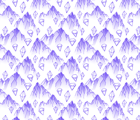 Diamond Mountains fabric by jhacarlson on Spoonflower - custom fabric