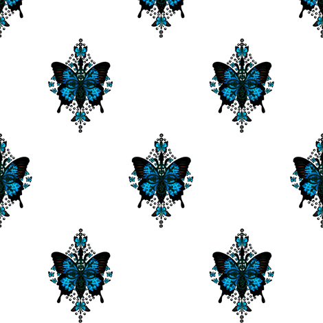 Parisian butterfly fabric by paragonstudios on Spoonflower - custom fabric