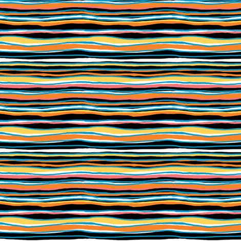 The Sky Is Falling: Horizontal Companion Stripe fabric by tallulahdahling on Spoonflower - custom fabric