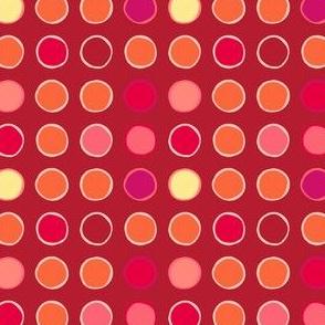 polka spots - tomato
