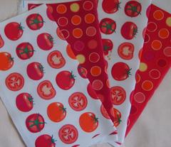 polka spots - bright tomato