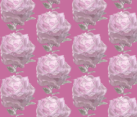 Pink rose fabric by dogdaze_ on Spoonflower - custom fabric