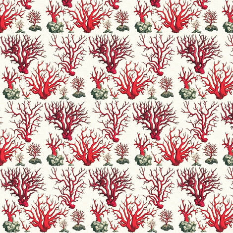 vintage corals fabric by ravynka on Spoonflower - custom fabric