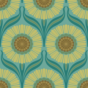 Retro Nouveau in Sea of Green