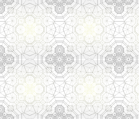 Concentric Black fabric by candyjoyce on Spoonflower - custom fabric