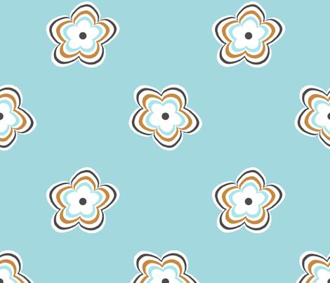 daisy_ripple fabric by christiem on Spoonflower - custom fabric