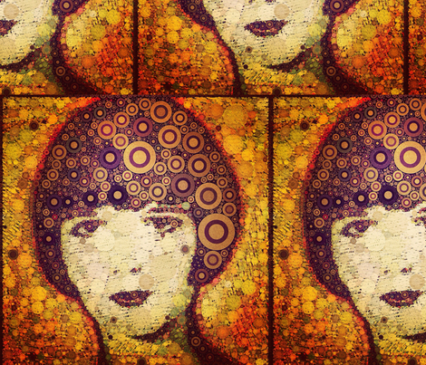 Large Print - Louise Brooks fabric by luckygirl_eleven on Spoonflower - custom fabric