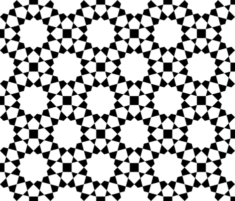 TC43X E3 : black + white fabric by sef on Spoonflower - custom fabric