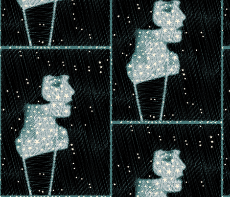 Louise Brooks Pearly Stars fabric by luckygirl_eleven on Spoonflower - custom fabric