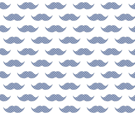 Fancy 'Stache fabric by scorpiusblue on Spoonflower - custom fabric