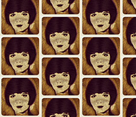 Louise Brooks  fabric by luckygirl_eleven on Spoonflower - custom fabric