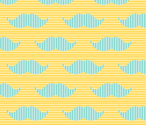 Fancy 'Stache fabric by scorpiusblue on Spoonflower - custom fabric