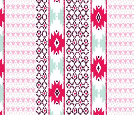 Navajo Stripe fabric by fable_design on Spoonflower - custom fabric
