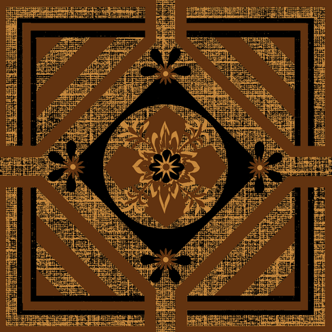 A Geo / Mahogany fabric by paragonstudios on Spoonflower - custom fabric