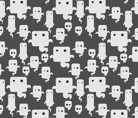 mod ghosties fabric by thecalvarium on Spoonflower - custom fabric