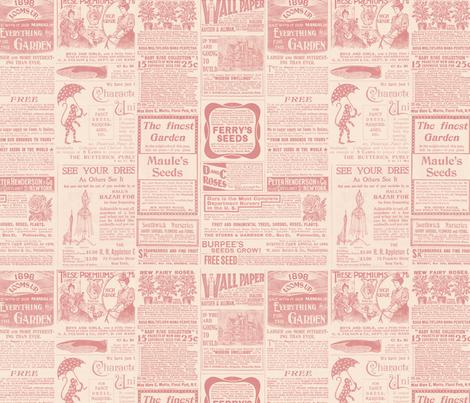 Antique Gardening Magazine  fabric by jodielee on Spoonflower - custom fabric