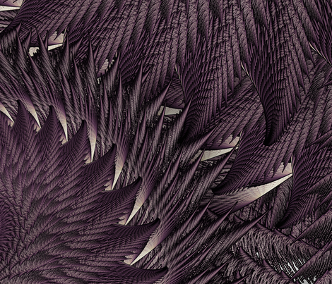 featherstile fabric by blc on Spoonflower - custom fabric