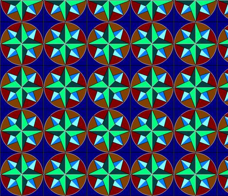 hex_star1 fabric by datawolf on Spoonflower - custom fabric