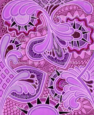 Ready Made Brocade (lilac)