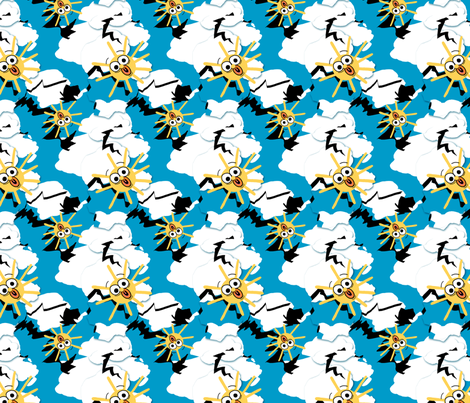 The Sky Is Really Falling_small fabric by tallulahdahling on Spoonflower - custom fabric
