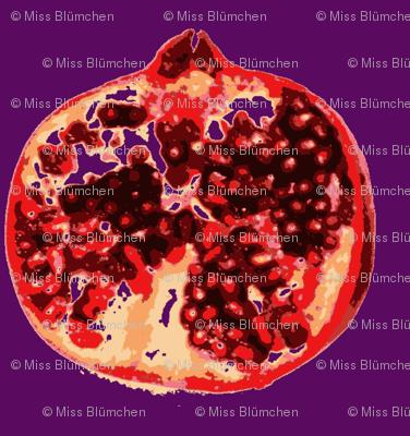 Pomegranates 2 lilac xxl