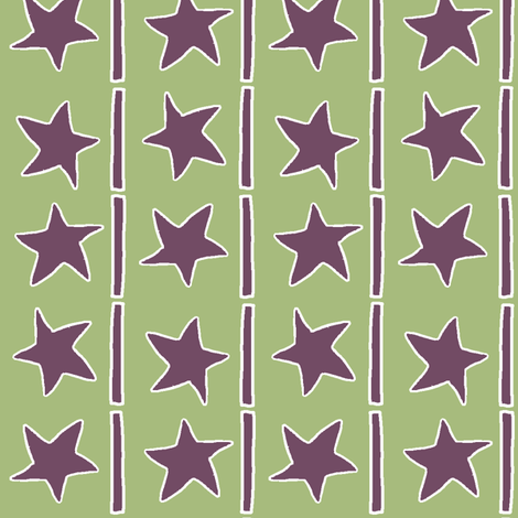 Stars and Stripes fabric by wiccked on Spoonflower - custom fabric