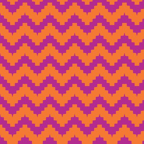 chevron orange and purple fabric by ravynka on Spoonflower - custom fabric