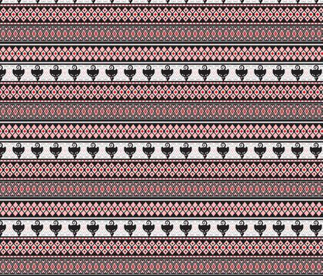 Kitty Fairisle fabric by lovekittypink on Spoonflower - custom fabric