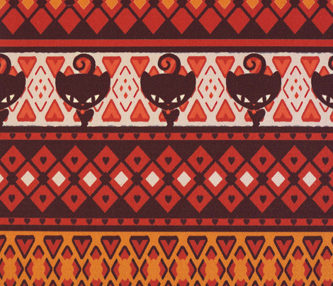 Kitty Fairisle Tribal