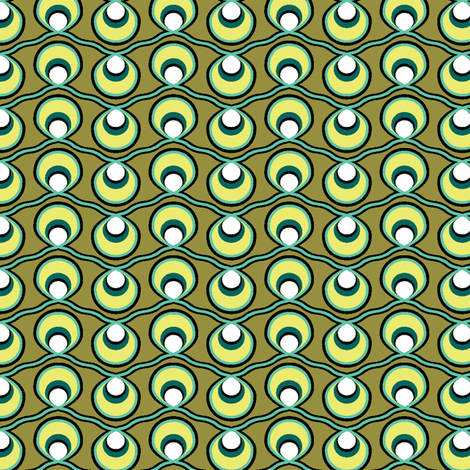 Olive Strings fabric by ravenous on Spoonflower - custom fabric