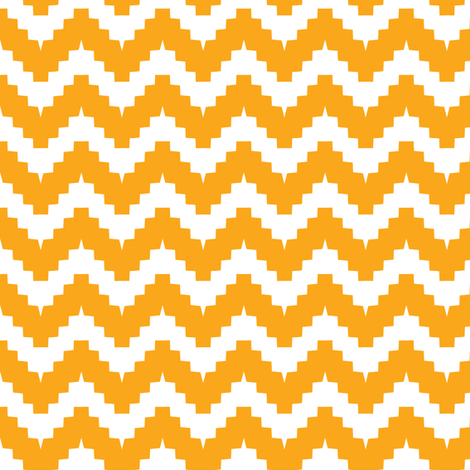 chevron orange fabric by ravynka on Spoonflower - custom fabric