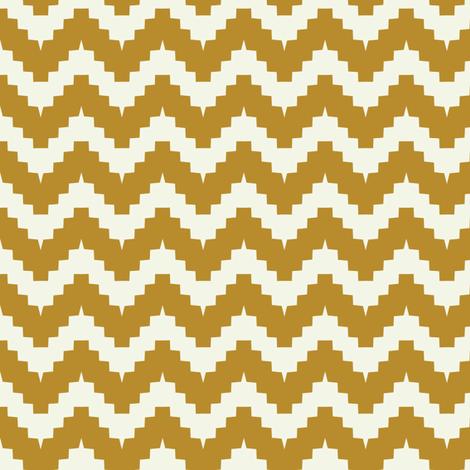 chevron mustard fabric by ravynka on Spoonflower - custom fabric
