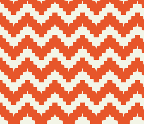 chevron tangerine fabric by ravynka on Spoonflower - custom fabric
