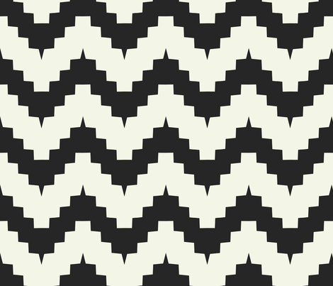 chevron black and off-white fabric by ravynka on Spoonflower - custom fabric