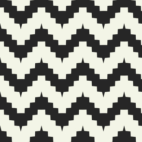 chevron black and off-white