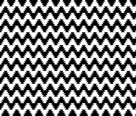 jagged zigzag 2 fabric by sef on Spoonflower - custom fabric