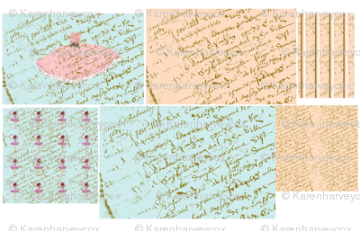 A French script Sampler