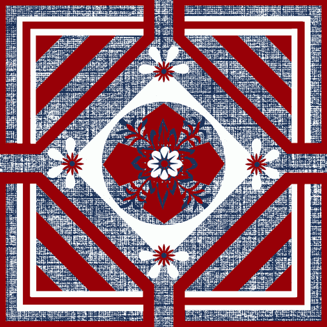 A Geo / Spirit of 76 fabric by paragonstudios on Spoonflower - custom fabric