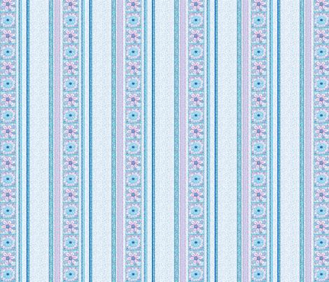 Flower Squares_Stripes fabric by tallulahdahling on Spoonflower - custom fabric