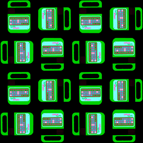 Speak And Spell Green fabric by theunicornandthewasp on Spoonflower - custom fabric