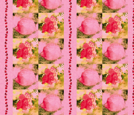 Pomegranate Flowers, Fruit, Seeds, L fabric by animotaxis on Spoonflower - custom fabric