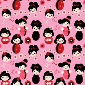 Pink Kokeshi