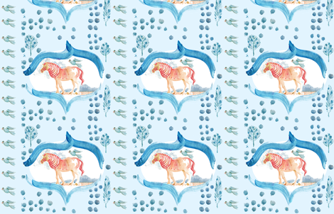 cestlaviv_extinctcreatures fabric by @vivsbeautifulmess on Spoonflower - custom fabric