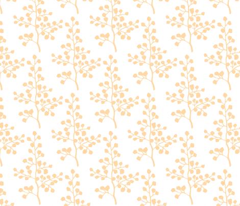 Orange Branch fabric by christiem on Spoonflower - custom fabric