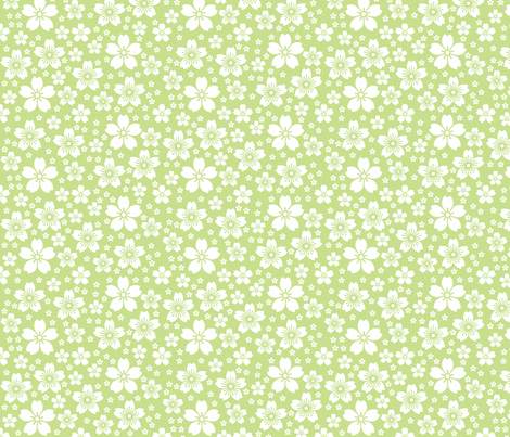 Grass Ditsy fabric by christiem on Spoonflower - custom fabric
