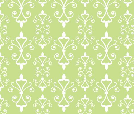 Grass Scroll fabric by christiem on Spoonflower - custom fabric