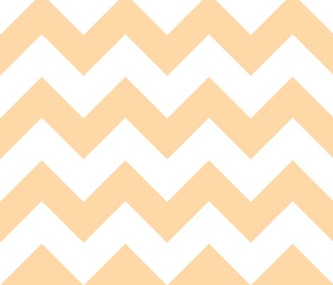 chevron orange fabric by christiem on Spoonflower - custom fabric