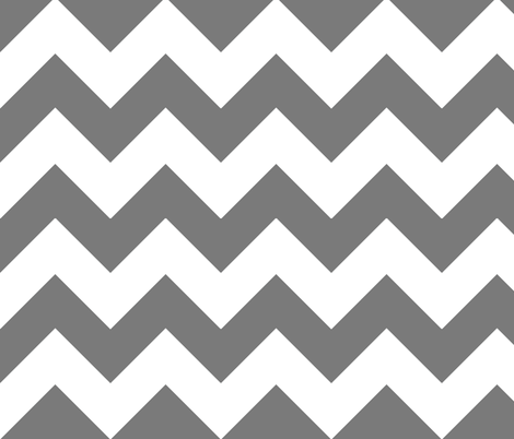 chevron grey fabric by christiem on Spoonflower - custom fabric
